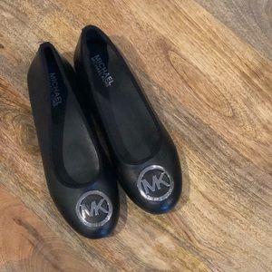 Michael Kors Black Logo Flats